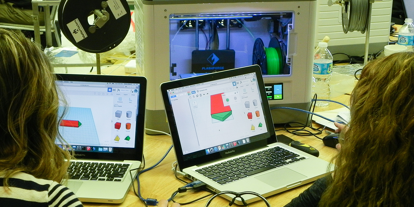 Laptops using CAD software and a 3D printer