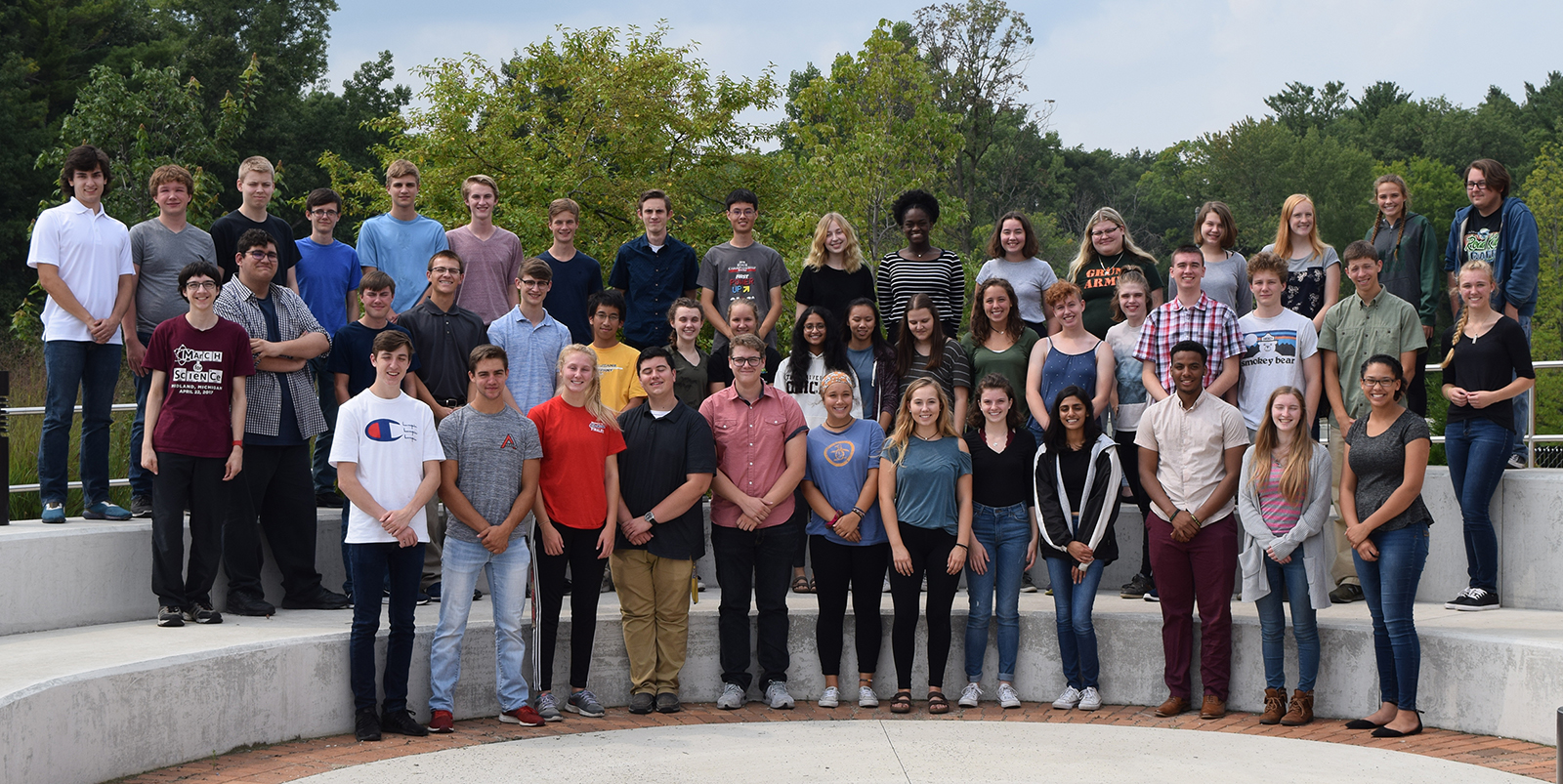 Group photo of student research interns for summer 2018