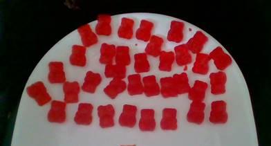 Image of homemade gummy bears.
